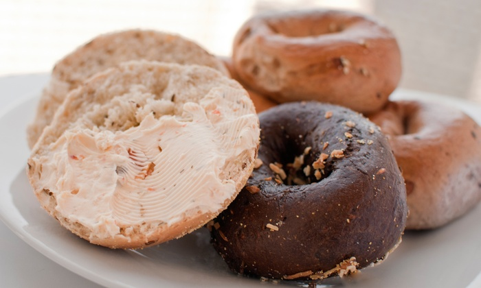 The Great American Bagel - Lakeview: One or Two Baker's Dozens of Bagels with One or Two Cream Cheese Tubs at The Great American Bagel (Up to 46% Off)