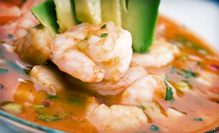 Mexican Seafood and Drinks at Mariscos Tampico (Half Off). Two Options Available.