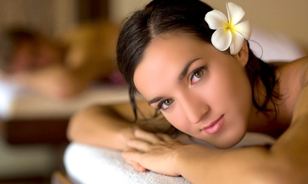 Spa Package with a Chair Massage and Facial, or Five UV Tans at Planet Beach Contempo Spa (Up to 87% Off)
