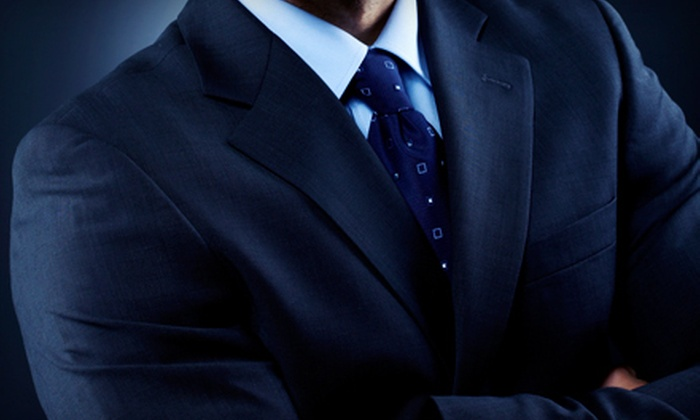 180 Moda - 180 Moda: Shirt and Silk Tie, a Super 130s Custom Suit with Shirt and Tie, or a Custom Coat from 180 Moda (Up to 61% Off)