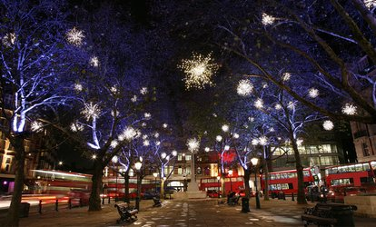 image for Christmas Lights London Bus Tour for One Adult or One Child with Premium Tours (Up to 56% Off)