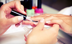 Exquisite Beauty, Hair, Spa and Salon: C$29 for One Full-Set French Gel Manicure at Exquisite Beauty, Hair, Spa and Salon (C$70 Value)