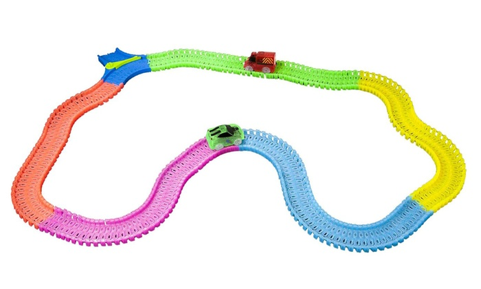 Mindscope Twister Tracks Bump & Go Set (254-Piece)