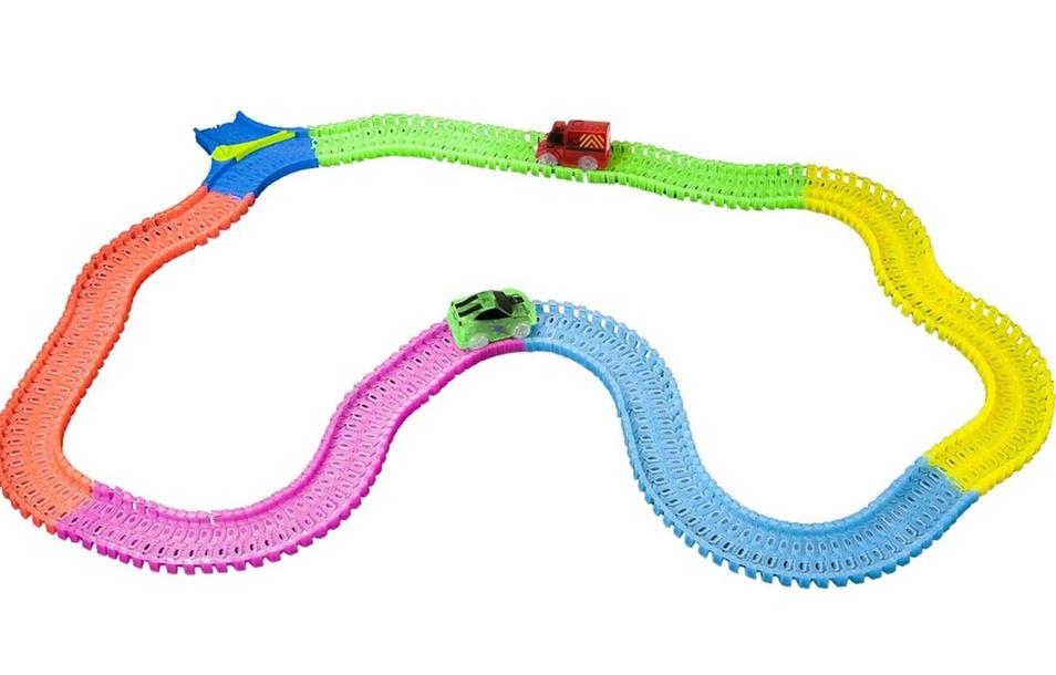 Mindscope Twister Tracks Bump & Go Set (254-Piece)