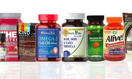 $19.99 for $40 Worth of Vitamins, Supplements, Groceries, and Personal-Care Products Puritan's Pride