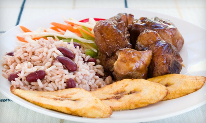 Bananas Caribbean Grill & Take-Out - Avalon - Notting Gate - Fallingbrook - Gardenway South: Caribbean Meal for One or Two with Fountain Drinks at Bananas Caribbean Grill & Take-Out (Up to 54% Off)