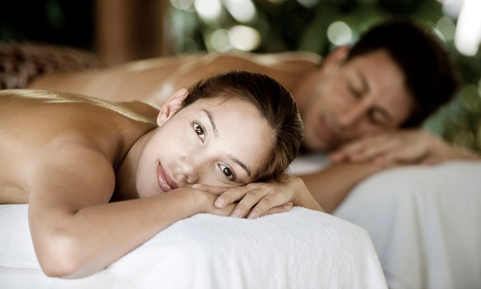 Adagio Massage Company - Music Row: 60-Minute Couple's Aromatherapy Massage with Champagne and Dessert at Adagio Massage Company (Up to 51% Off)