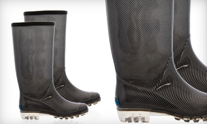 $24 for a Pair of BootsiTootsi Pinstriped Rain Boots ($48 List Price). Five Sizes Available. Free Shipping.