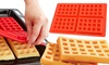 Four-Waffle Silicone Baking Pan