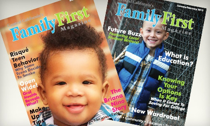 "Central California's Family First Magazine - Fresno: $6 for a One-Year, Online Subscription to ""Central California's Family First Magazine"" (Up to $12 Value)"