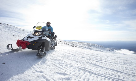 Three-Hour Snowmobile Tour for One, Two, or Four from Monarch Snowmobile Tours and Rentals (Up to 44% Off)