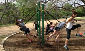 Austin Outdoor Gym: 5 or 10 Outdoor Fitness Classes or 3 Personal-Training Sessions at Austin Outdoor Gym (Up to 62% Off)