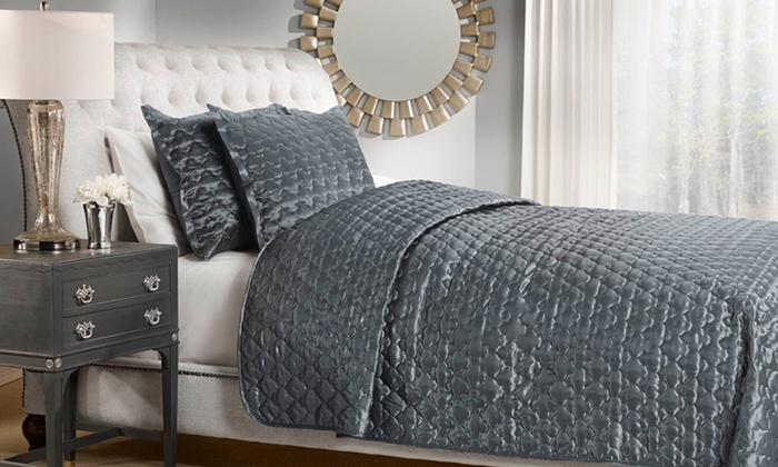 Satin Quilted Coverlet 3-Piece Set: Satin Quilted Coverlet 3-Piece Set. Multiple Sizes from $49.99–$54.99. Free Returns.