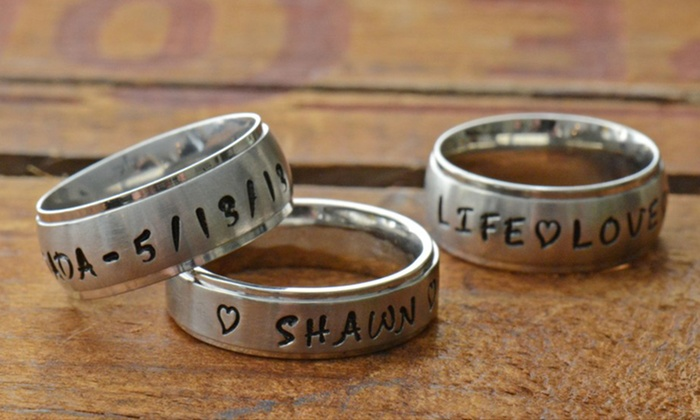 Personalized Hand-Stamped Name Ring: $17 for a Personalized Hand-Stamped Name Ring from Stamp the Moment ($34.99 List Price). Free Shipping.