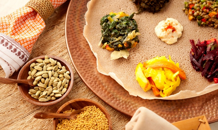 Meskel Ethiopian Restaurant - East Village: Dinner for Two or Four with Appetizers, Entrees, and Wine at Meskel Ethiopian Restaurant (Up to 62% Off)