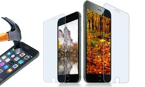 Tempered-Glass iPhone Screen Covers (1- or 2-Pack)