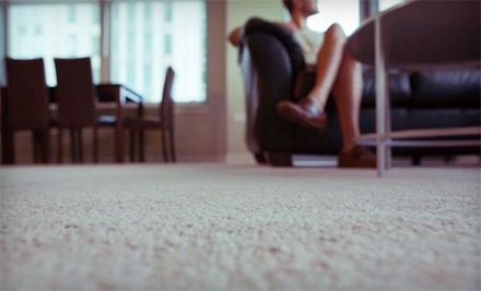 $49 for Hot-Water-Extraction Carpet Cleaning for Three Rooms and One Hallway from Choice Carpet Cleaning ($109.95 Value)