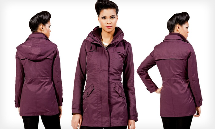 Kenneth Cole Women's Hooded Coat: $65 for a Kenneth Cole Women's Hooded Coat ($245 List Price). 42 Options Available. Free Shipping and Free Returns.