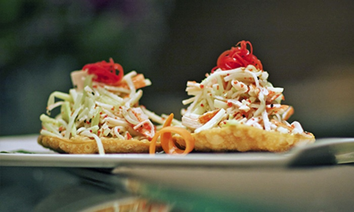 Mizu Japanese & Thai cuisine - Flatiron District: $29 for a Sushi Dinner for Two with an Appetizer and Sushi Rolls at Mizu Japanese & Thai Cuisine (Up to $73 Value)
