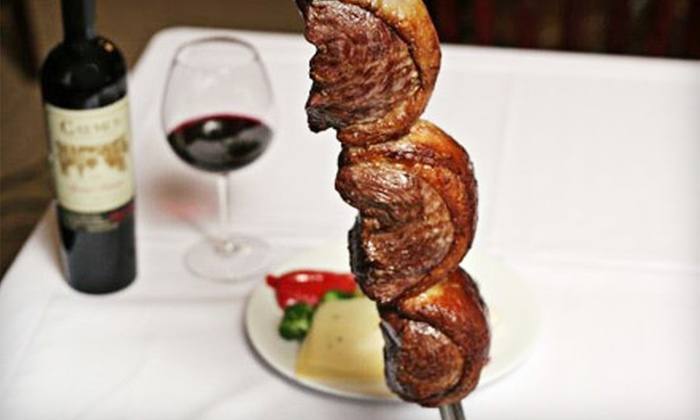 GOL! The Taste of Brazil - Delray Beach: $68 for Dinner for Two with Wine or Drinks and Dessert at Gol! The Taste of Brazil ($137 Value)