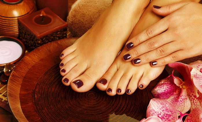 $29 for a Gel Manicure, Sugar Scrub and Hand Massage or $40 for a Spa Deluxe Pedicure - The Sharp Nail (Up to $85 Value)