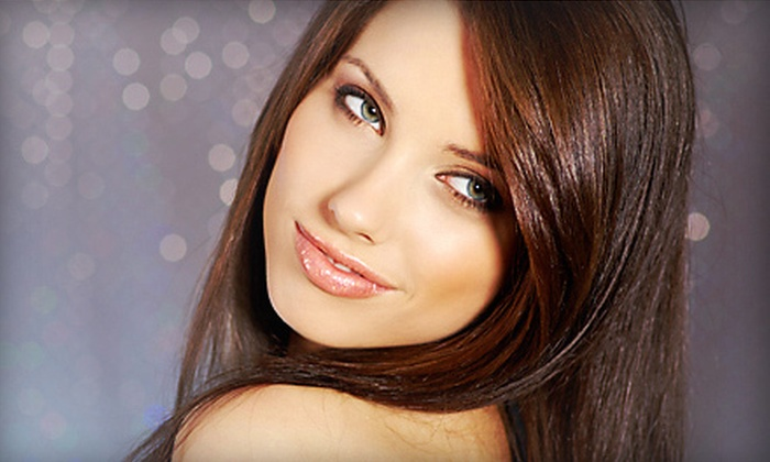 Visage Unisex Salon & Spa - Sunrise Golf Village East: Haircut Package with Conditioning and Optional Partial or Full Highlights at Visage Unisex Salon & Spa (Up to 68% Off)