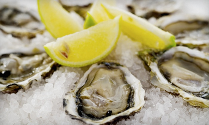 Wharfside Seafood Grille - On the Harbour: Two- or Four-Dozen Freshly Shucked Victoria Island Oysters at Wharfside Seafood Grille (Up to 54% Off)