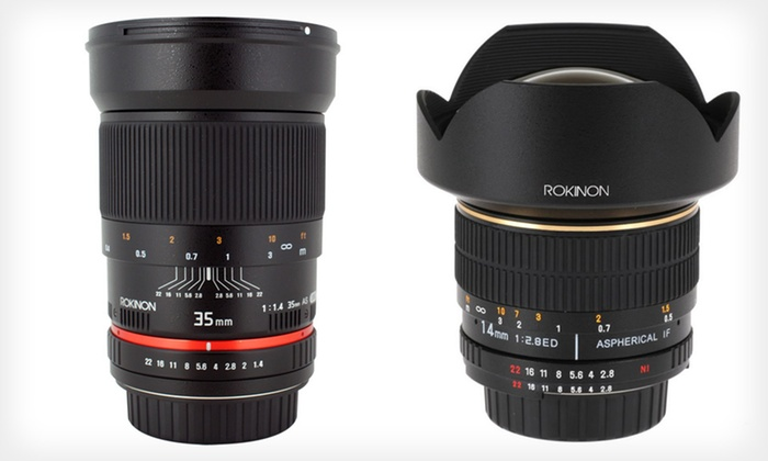 Rokinon Wide-Angle Lenses: Rokinon Wide-Angle Lenses (Up to 43% Off). Multiple Options Available. Free Shipping and Free Returns.