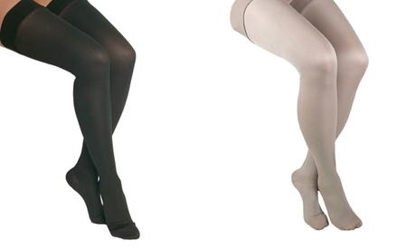 ITA-MED Microfiber Thigh-High Compression Tights 25daf6c0-67e7-4ec8-ac30-1cacfb7c6e08