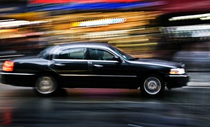image for Airport <strong>Transportation</strong> for Up to Three in a Luxury Black Car Sedan from S&G Limousine (Up to 56% Off)