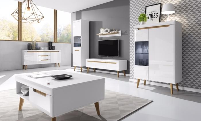 Kast Scandinavische Stijl : Tot op tv meubels scandinavische stijl groupon producten