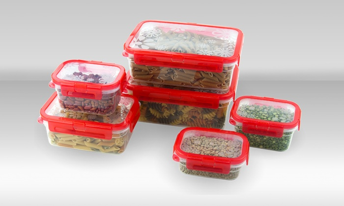 12-Piece Food Container Set with Locking Lids: 12-Piece Food Container Set with Locking Lids. Free Returns.