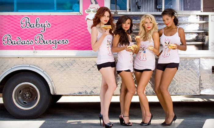 Baby's Badass Burgers - Los Angeles: $12 for Burgers and Drinks for Two at Baby's Badass Burgers (Up to $28 Value)