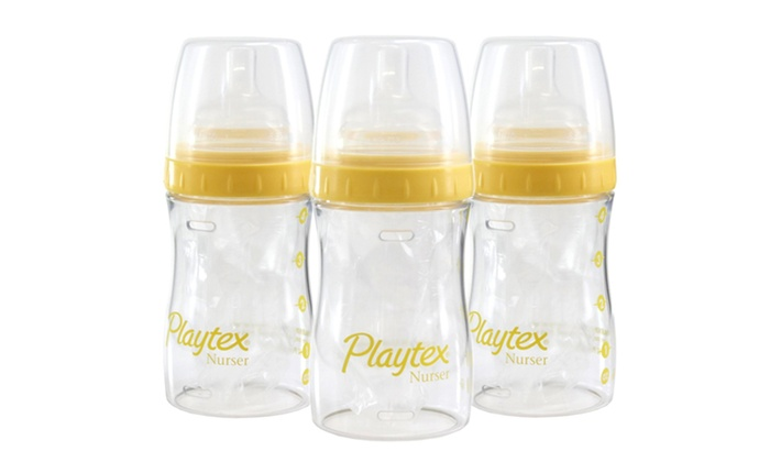 Set of 3 Playtex Drop-In 4 Oz. Bottles with 15 Liners: Set of 3 Playtex Drop-In 4 Oz. Bottles with 15 Liners. Free Returns.