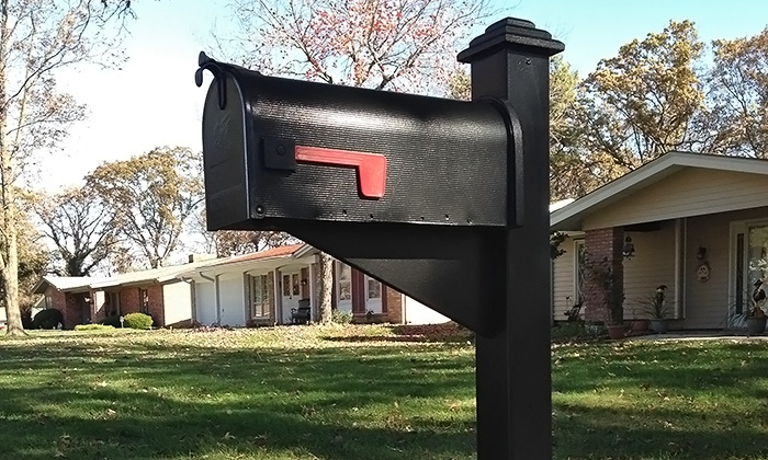 Crossroad Designs - Wentzville: Augusta Base-Model Mailbox with Optional Installation Services from Crossroad Designs (51% Off)