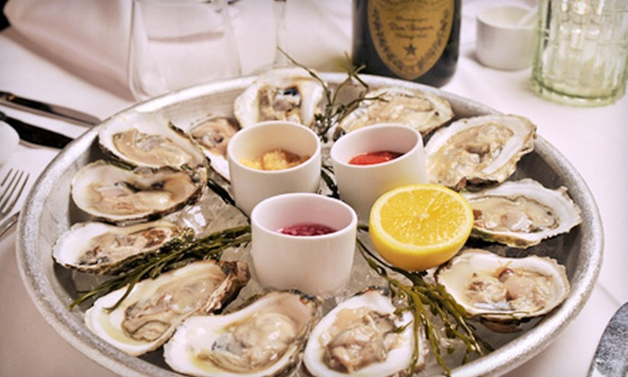 Sage Oyster Bar & Restaurant - Parkside: One Dozen Blue Point Oysters and Two Glasses of Wine at Sage Restaurant & Oyster Bar ($44 Value)