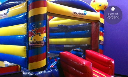 5 or 10 Play Visits at Pump It Up & Pump It Up Junior (Up to 63% Off)