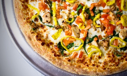 $10 for Two Groupons, Each Good for $10 Worth of Pizza at HotBox Pizza ($20 Total Value)