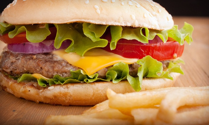 Mr. Pickles Sandwich & Burger Shop - Carmichael: Burger, Sandwich, Cheesesteak Sandwich, or Gyro Meal for Two at Mr. Pickles Sandwich & Burger Shop (Up to 54% Off)
