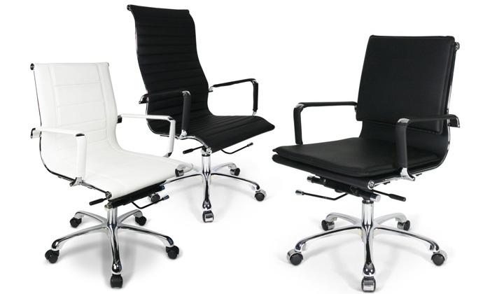 Bureaustoel Leer Wit.Bureaustoel Capital Bold Of Italic Groupon Goods