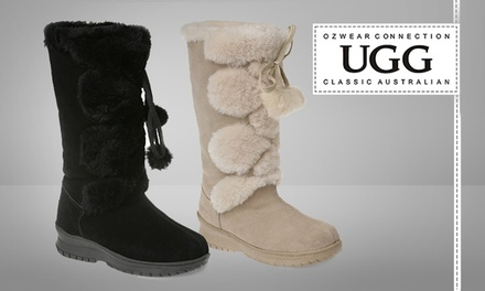 Ugg Long Pom Pom Boots Groupon Goods
