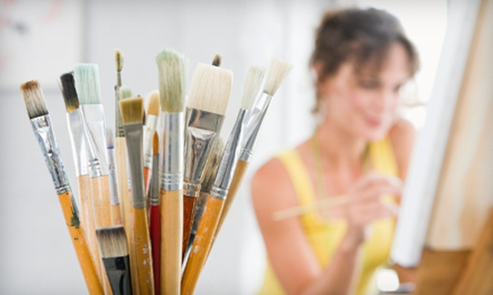 Merlot 2 Masterpiece - Multiple Locations: Two- or Three-Hour BYOB Painting Class for One or Two at Merlot 2 Masterpiece (51% Off)