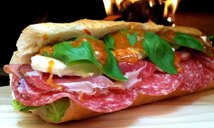 Gourmet Sandwiches and Pizzas at Capicola's Gourmet Sandwich Co. (Up to 45% Off). Three Options Available.