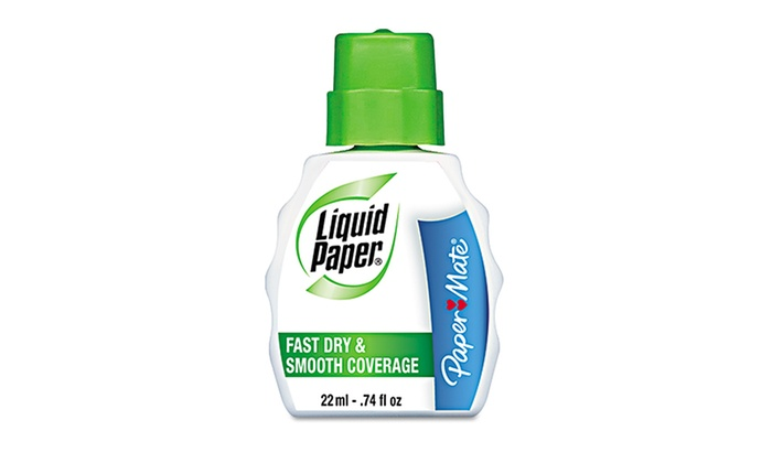 Liquid Paper Fast Dry & Smooth Coverage Correction Fluid: Liquid Paper Fast Dry & Smooth Coverage Correction Fluid; 12-Pack of 22mL Bottles. Free Returns.
