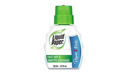 Liquid Paper Fast Dry & Smooth Coverage Correction Fluid; 12-Pack of 22mL Bottles. Free Returns.