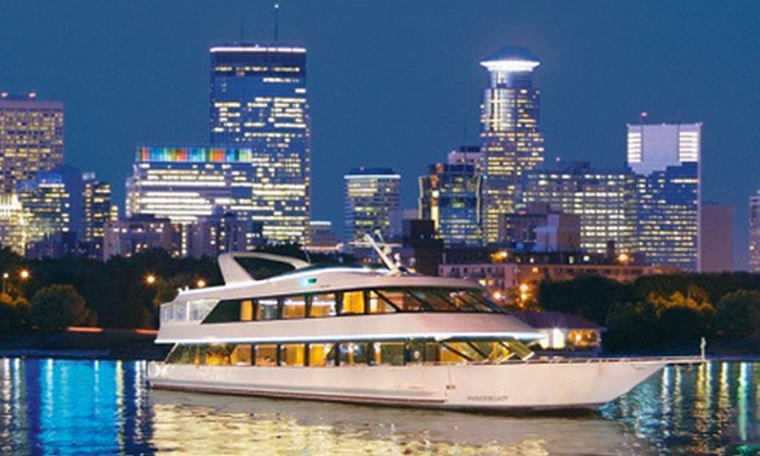 Paradise Charter Cruises and Minneapolis Queen: $39 for a Mississippi River Sunset and Wine Tasting Cruise from Paradise Charter Cruises and Minneapolis Queen ($80 Value)