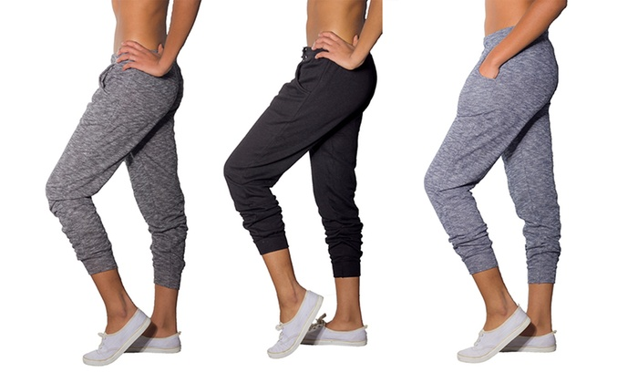 Ladies' Brushed Cotton Joggers