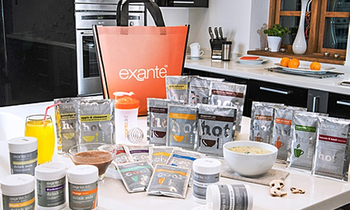 Exante Diet: Exante Meal Replacement Packs: Two, Four or Six Week Diet Plan from £35.99 (Up to 68% Off)