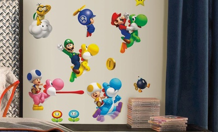 Super Mario or Giant Mario Cart Wii Wall Decals from $13.99 to $24.99
