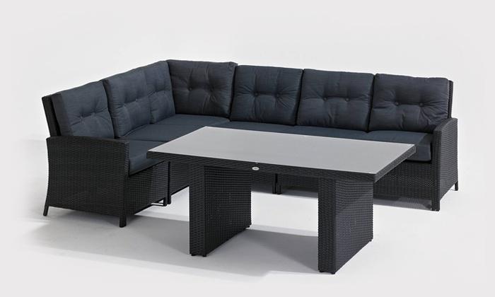 7 teilige rattan sitzecke groupon goods. Black Bedroom Furniture Sets. Home Design Ideas
